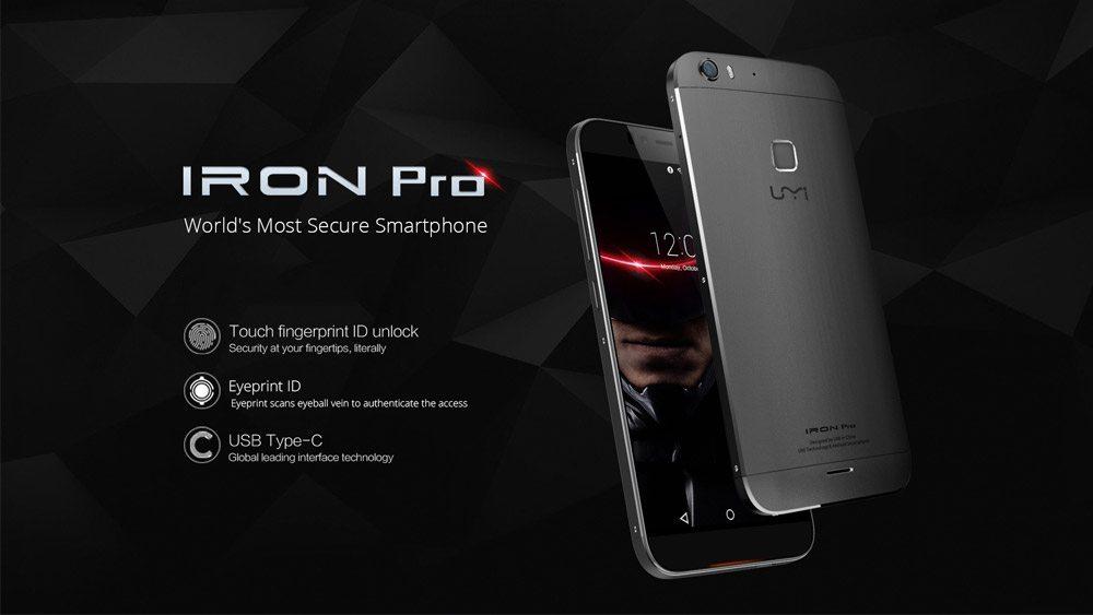 Toto je UMi Iron Pro: Snímač odtlačkov prstov, USB Type-C ...