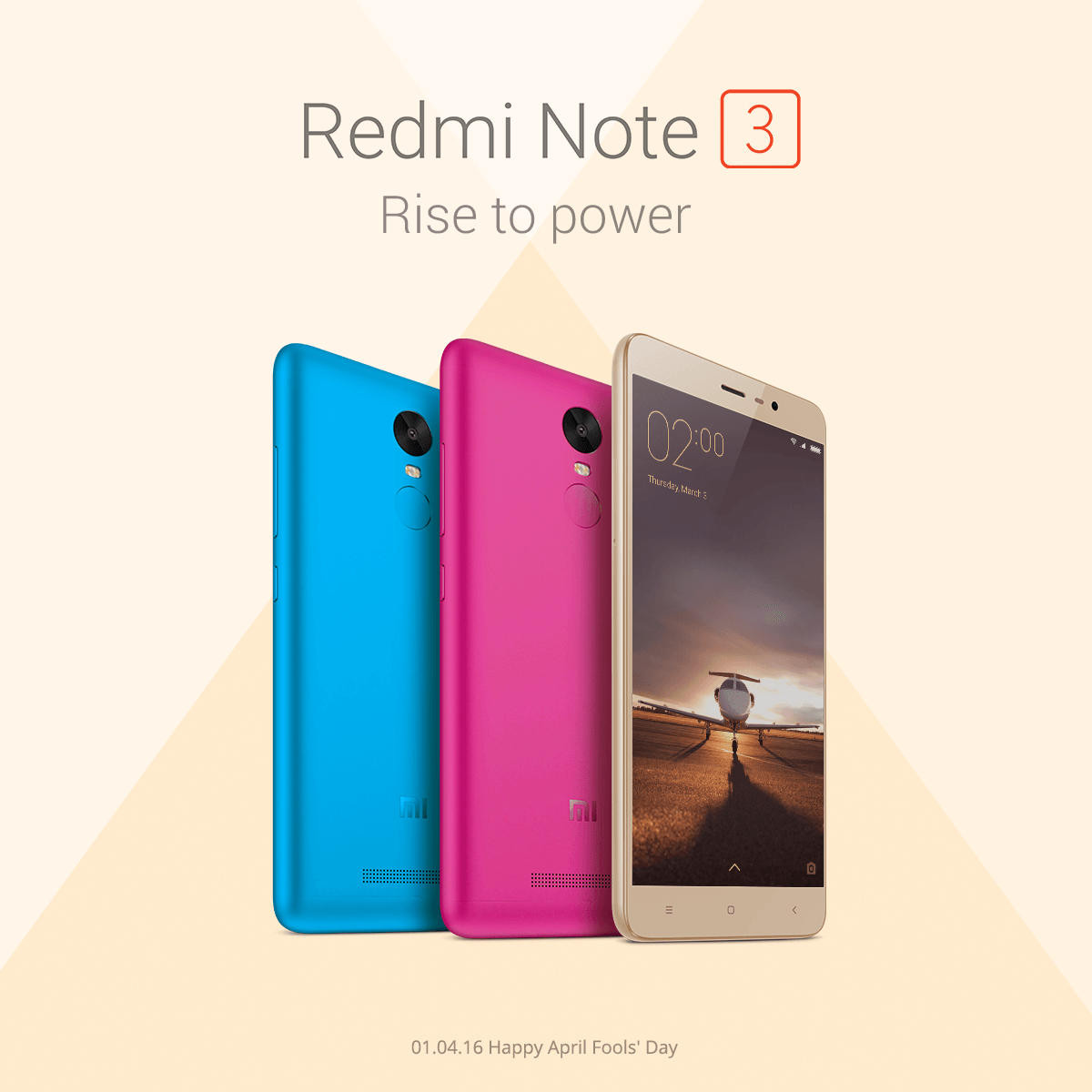 redmi note 3 pink blue april