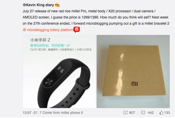 xiaomi redmi pro kevin wang weibo