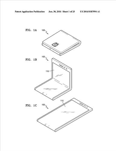 """Patent """"ohybného"""" displeja Samsungu"""
