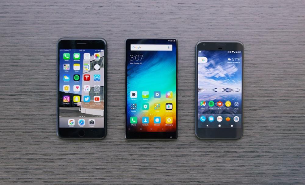 xiaomi mi mix vs iphone 6s