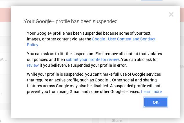 google-plus-account-suspended