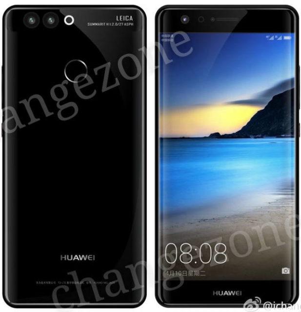 Jeden z renderov Huawei P10