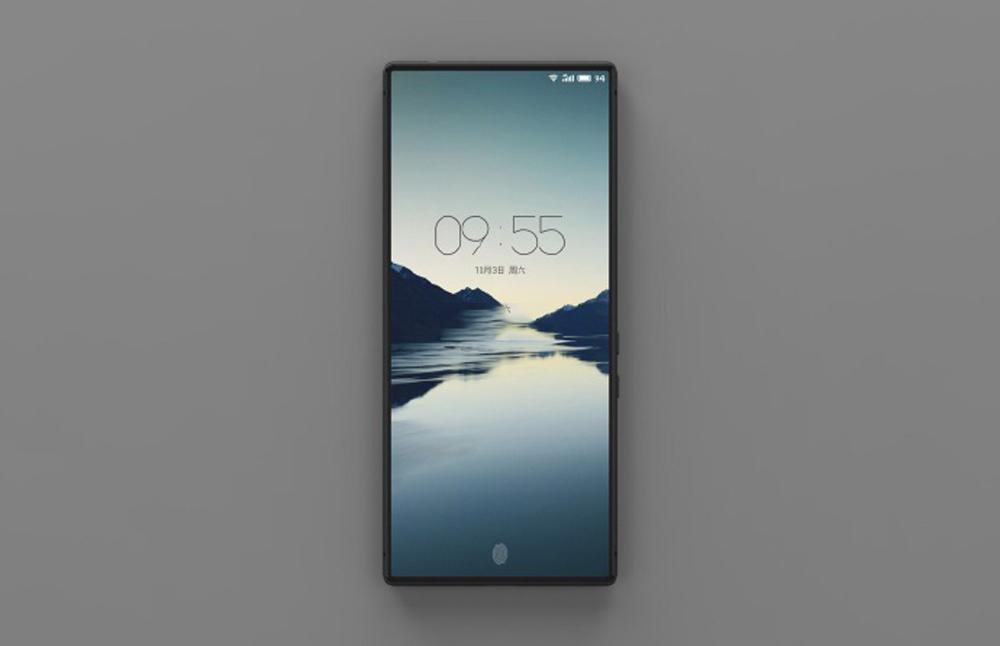 Koncept bezrámikového smartfónu Meizu