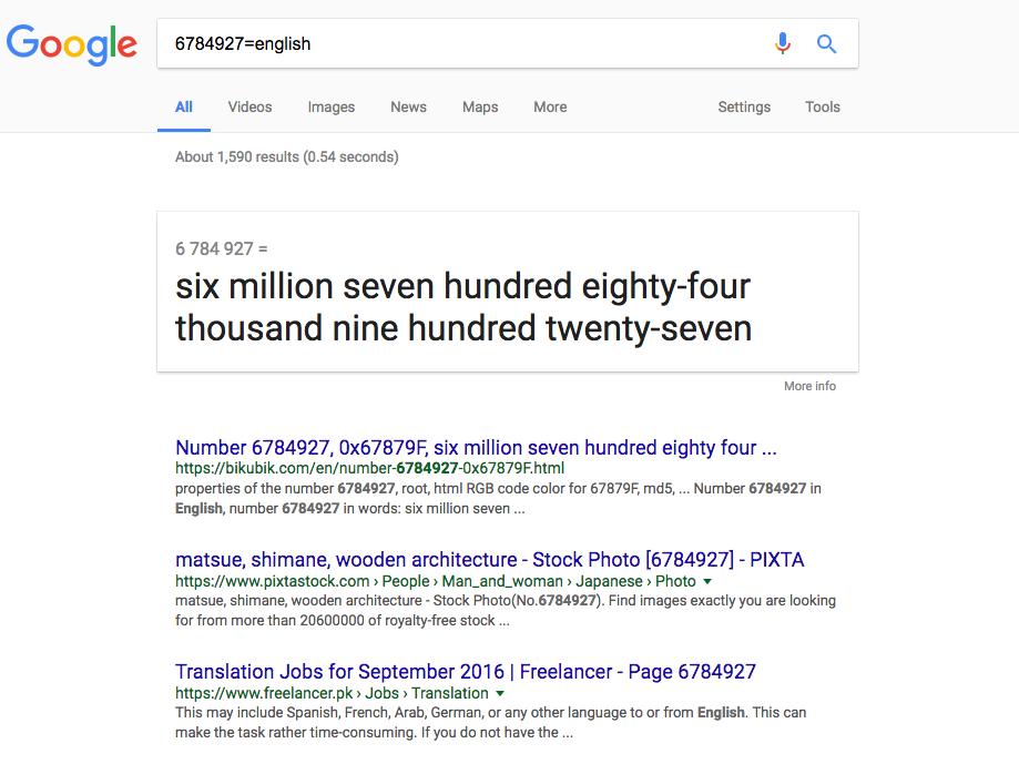 google-numbers