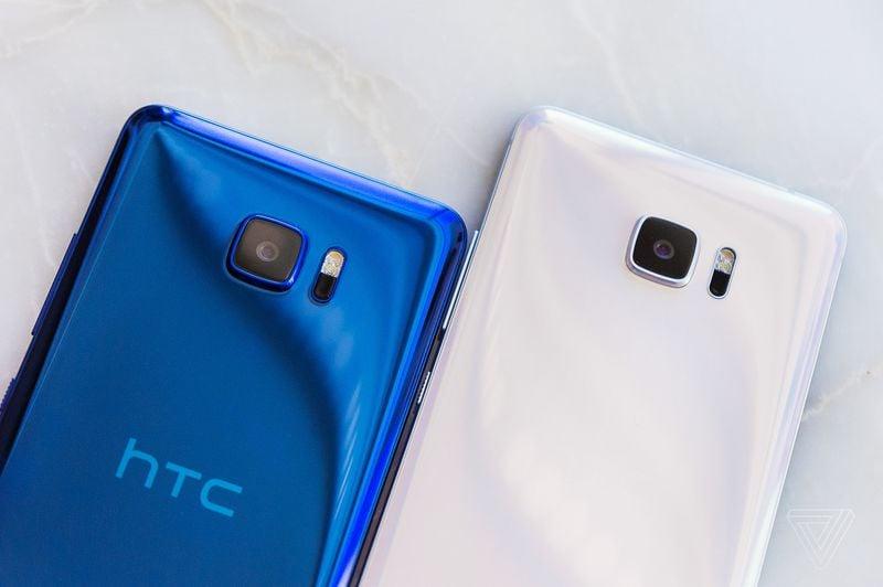 HTC U Ultra blue white