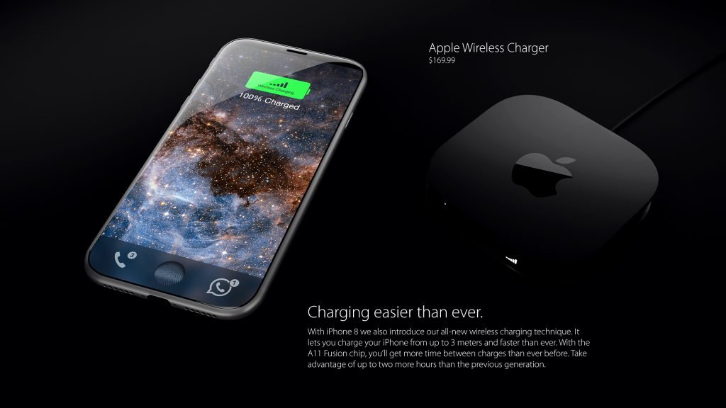 iPhone 8 koncept Charging