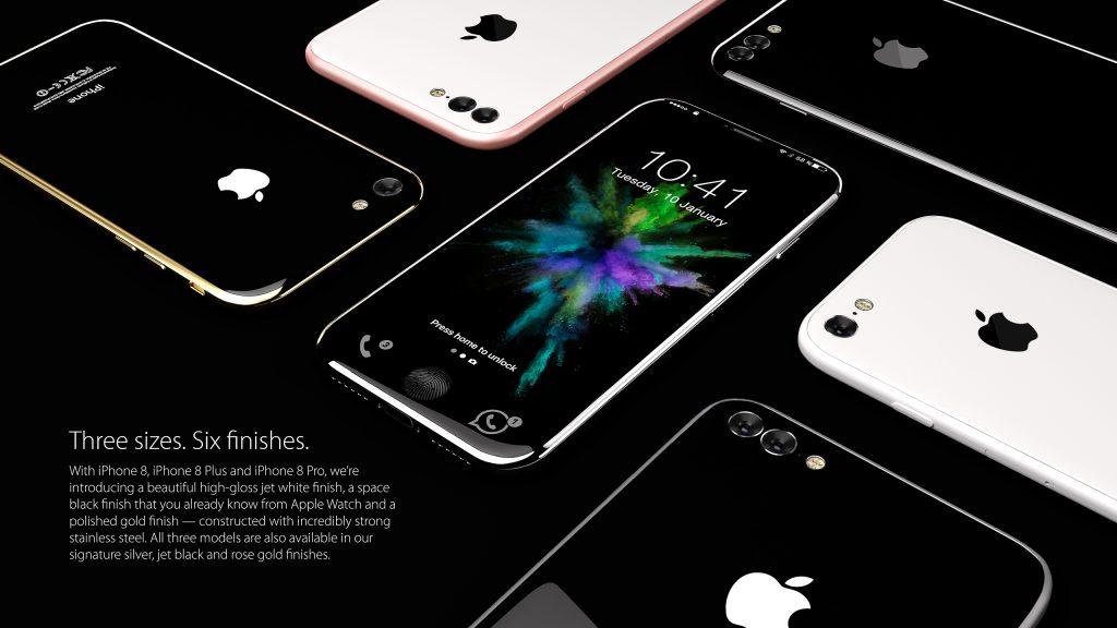 iPhone 8 koncept Colors