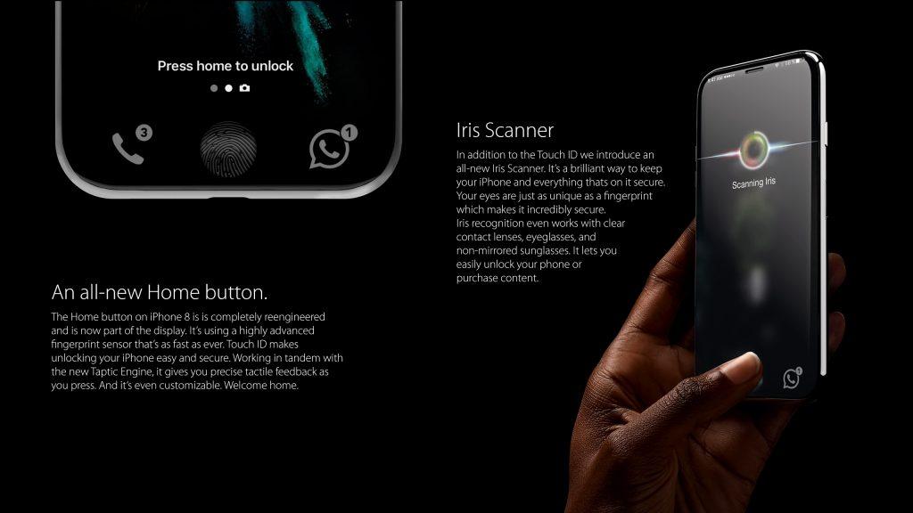 iPhone8 koncept Security