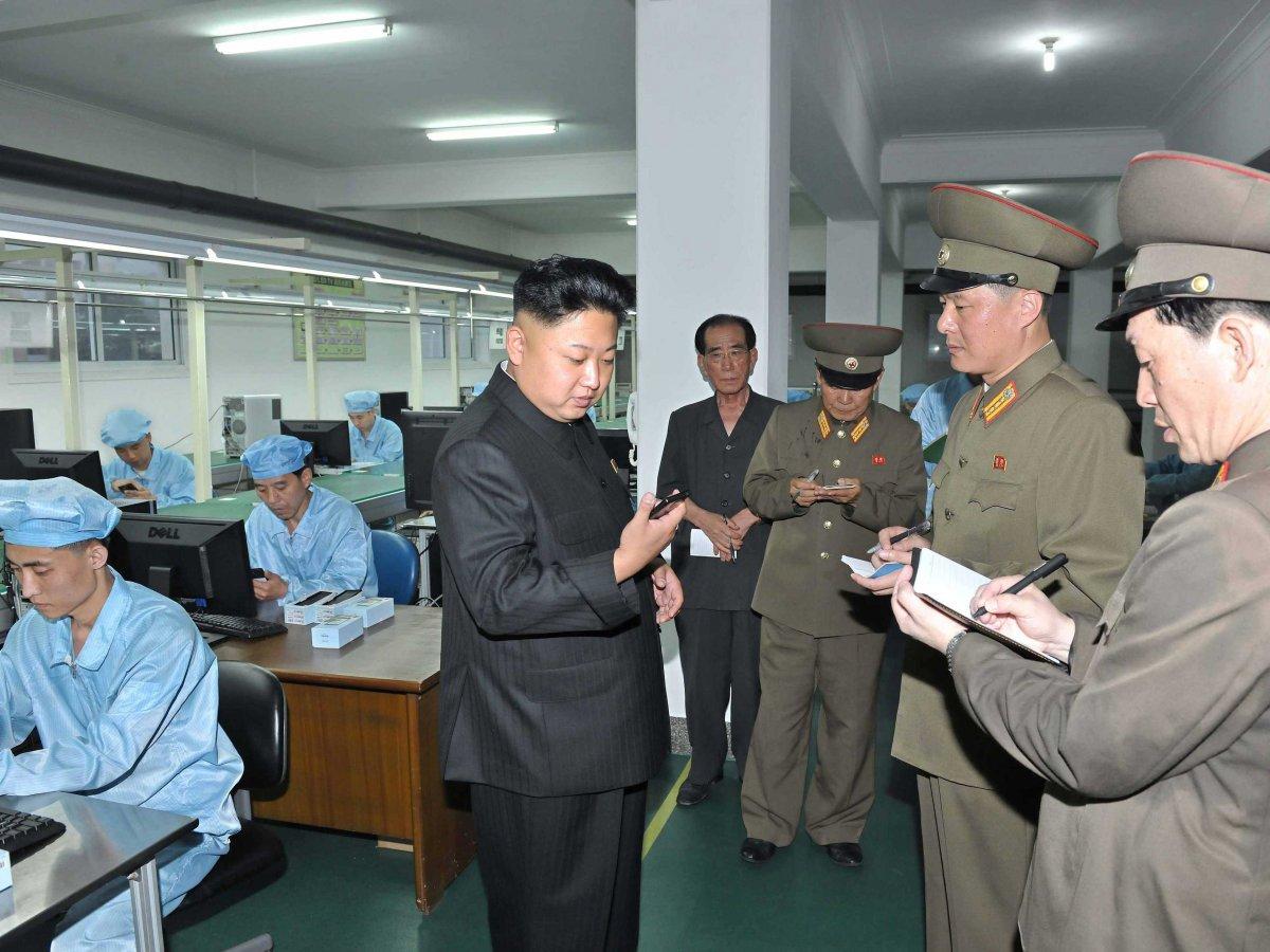 severna korea-smartfon