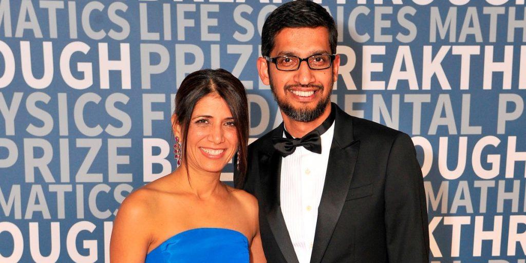 Sundar Pichar and wife