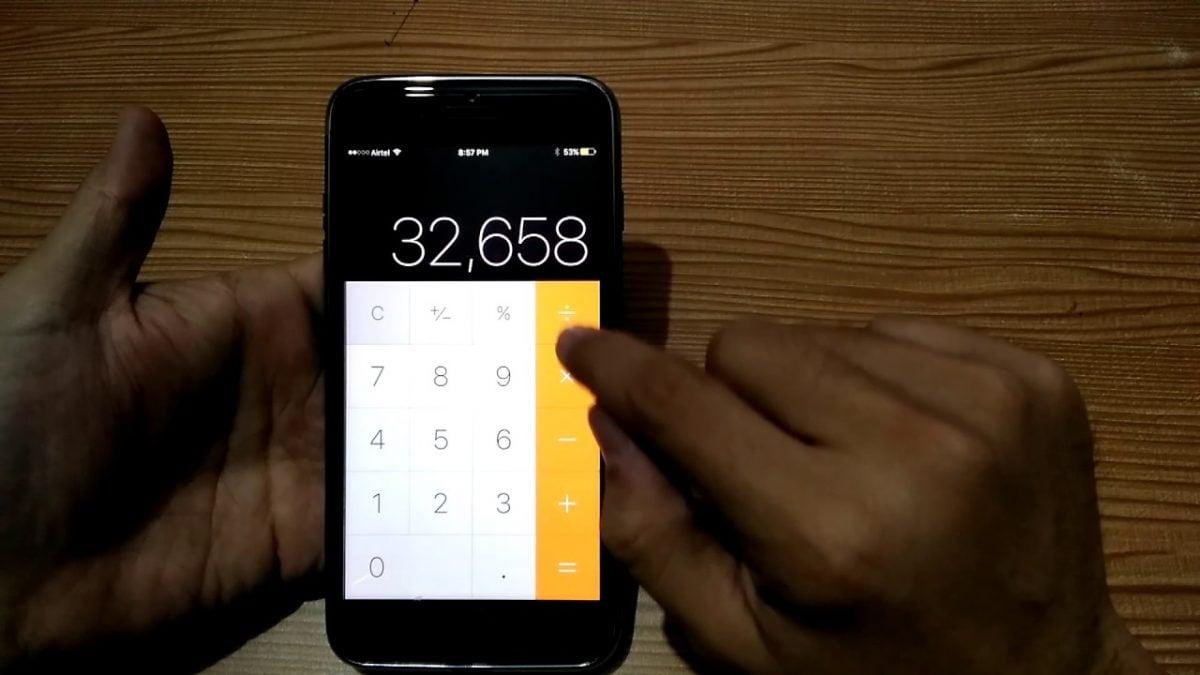 iPhone kalkulačka