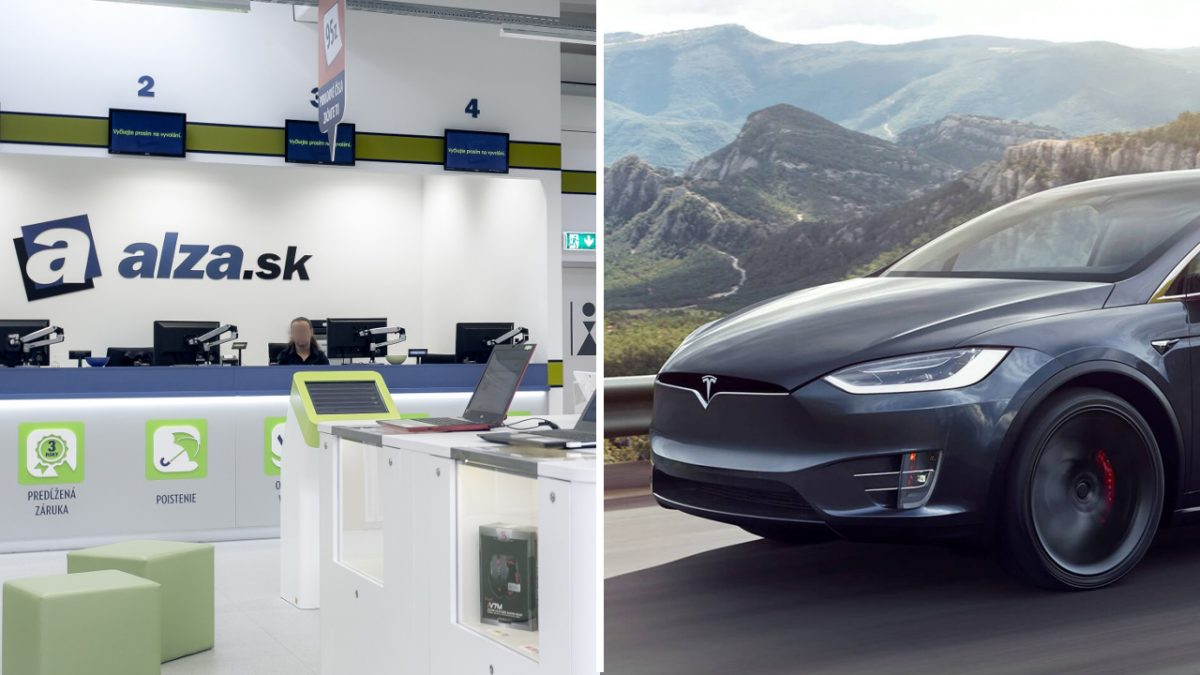predajca Alza a elektromobil Tesla