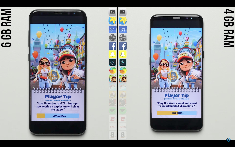 Galaxy S8 Speedtest RAM