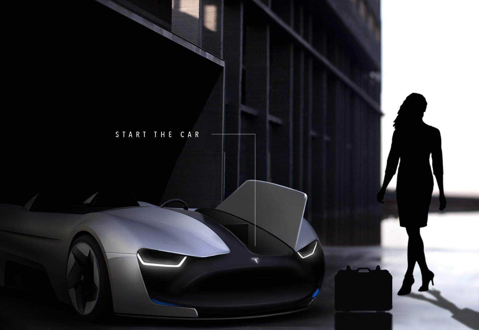 Tento koncept dravej Tesly Roadster Y je dokonalý! Má ...