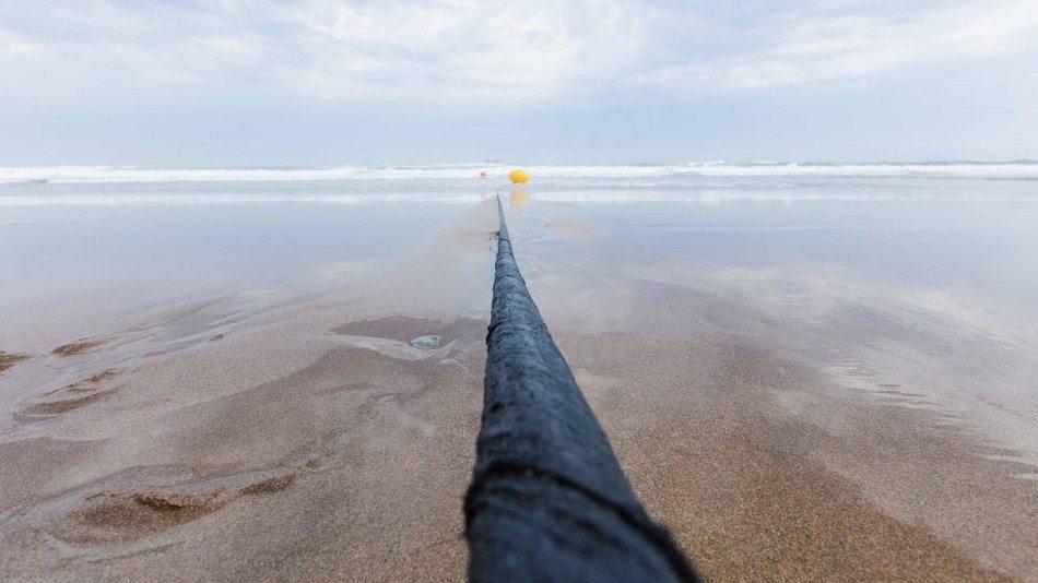 optický kábel Marea vedúci cez Atlantický oceán