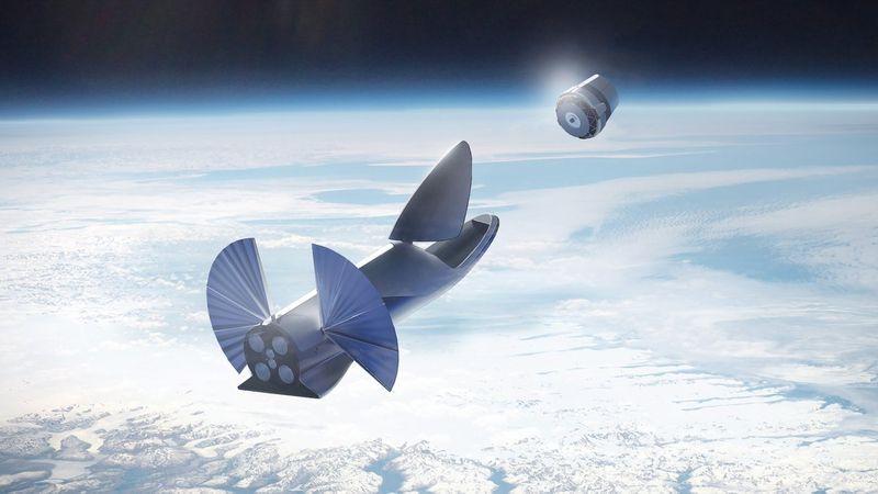 raketa SpaceX vo vesmíre