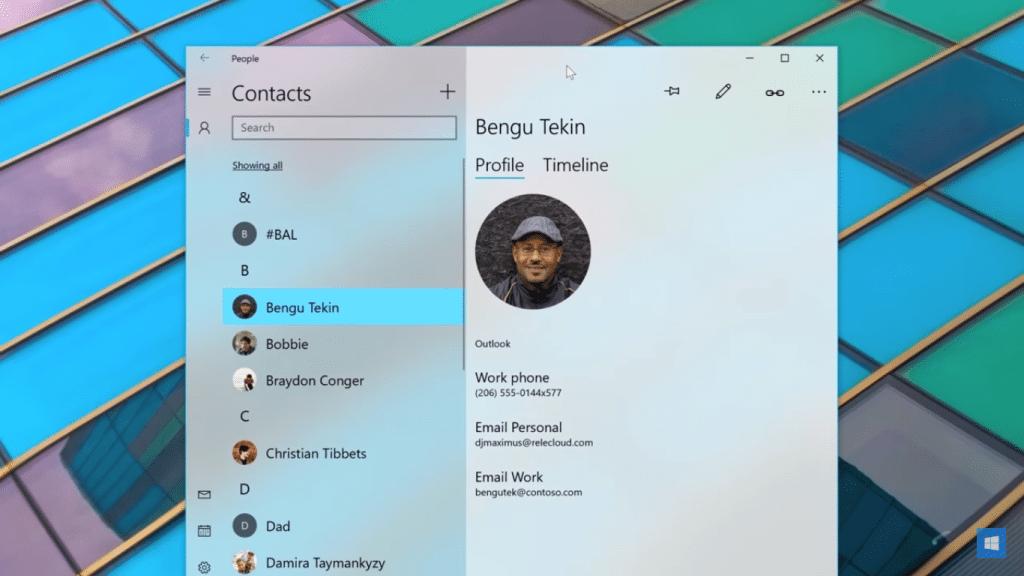 Fluent Design vo Windows 10