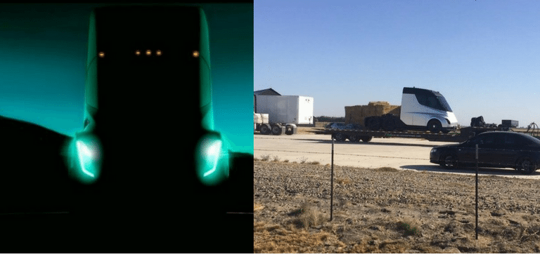 Nákladiak Tesla, uniknutá fotografia
