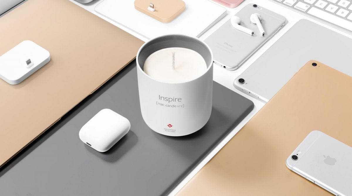 sviečka Inspire vonia ako MAc