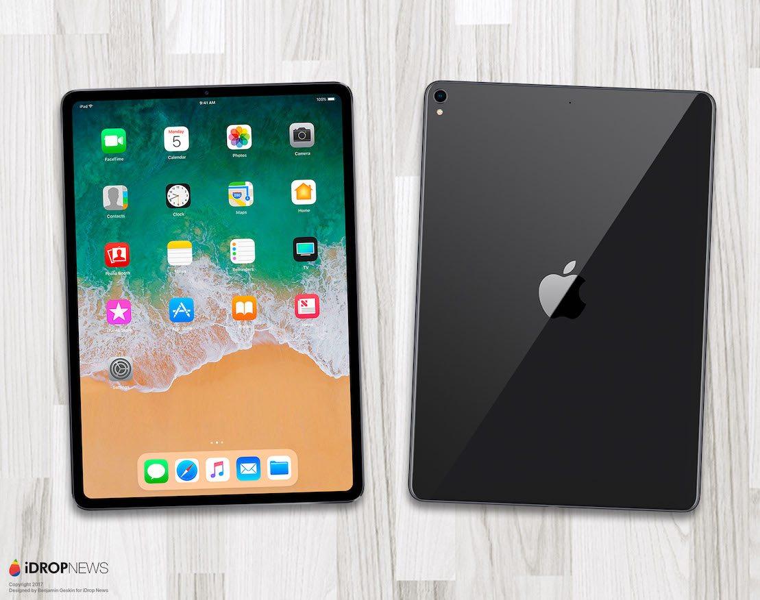iPad Pro 2018 render