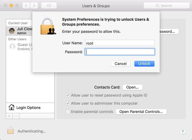 bezpečnostná chyba v macOS Sierra