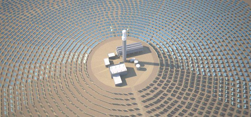 solárna elektráreň na Sahare