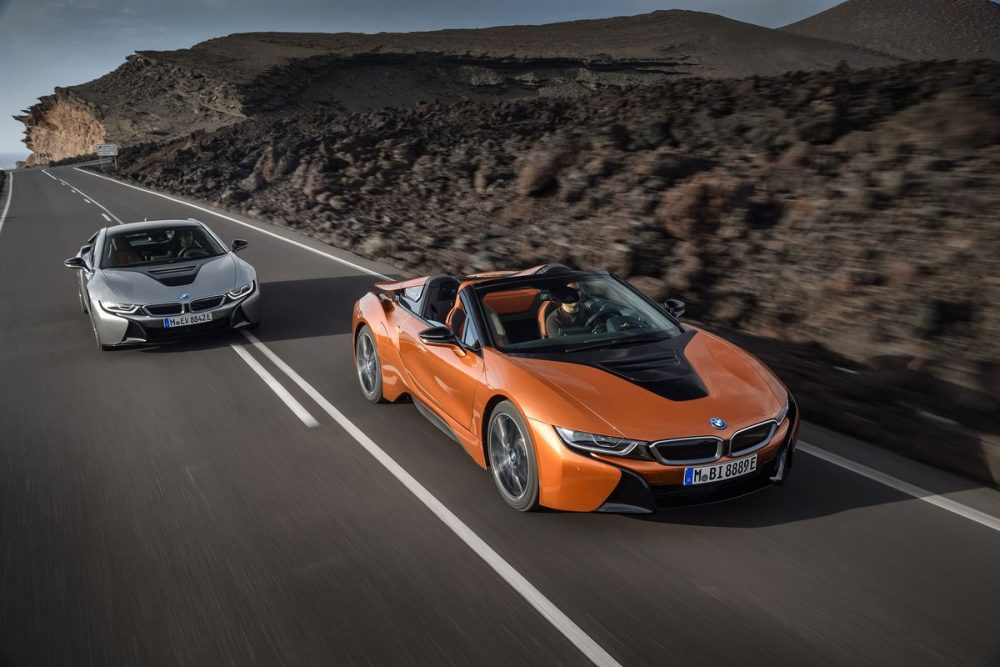 BMW i8 Roadster a BMW i8 Coupé