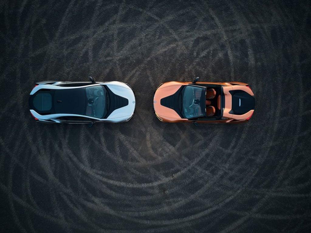 BMW i8 Roadster a BMW i8 Coupé