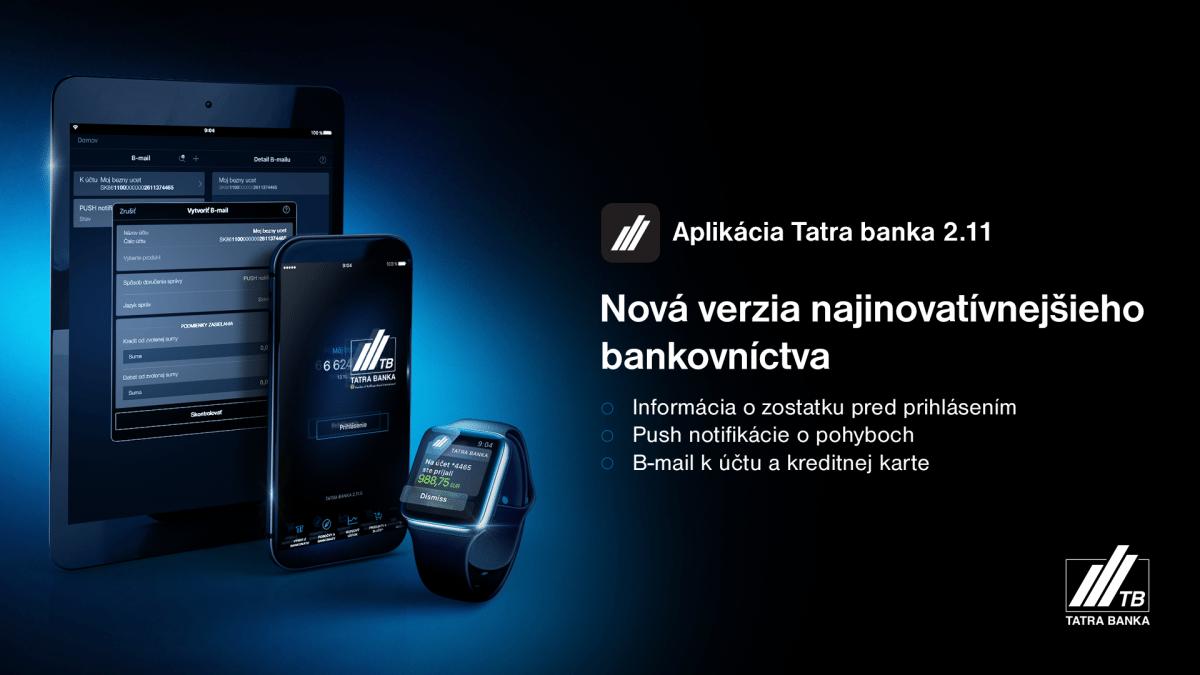aplikácia Tatra banka