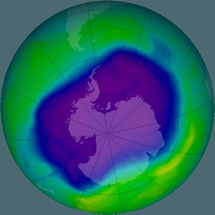 Ozónová diera v roku 2006