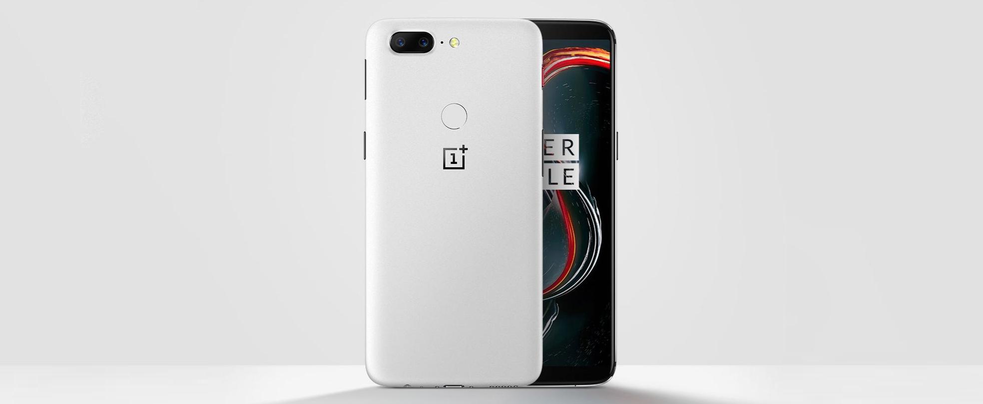 OnePlus 5T v limitovanej bielej farbe