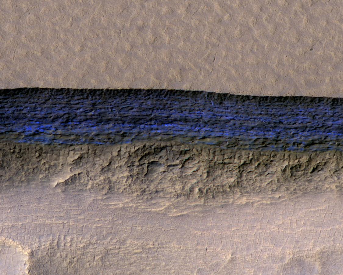 objavená voda na marse
