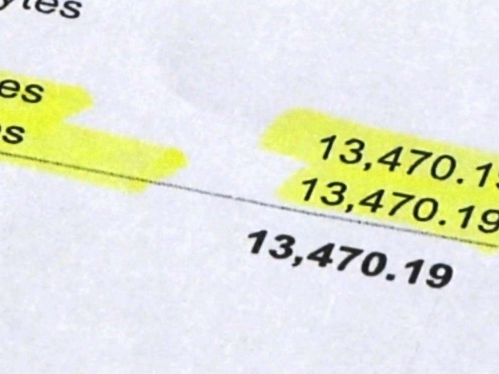 účet vo výške 13 000 dolárov