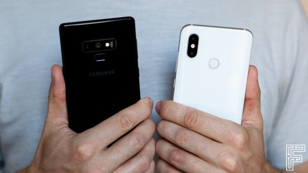 Samsung Galaxy Note 9 vs Xiaomi Mi 8