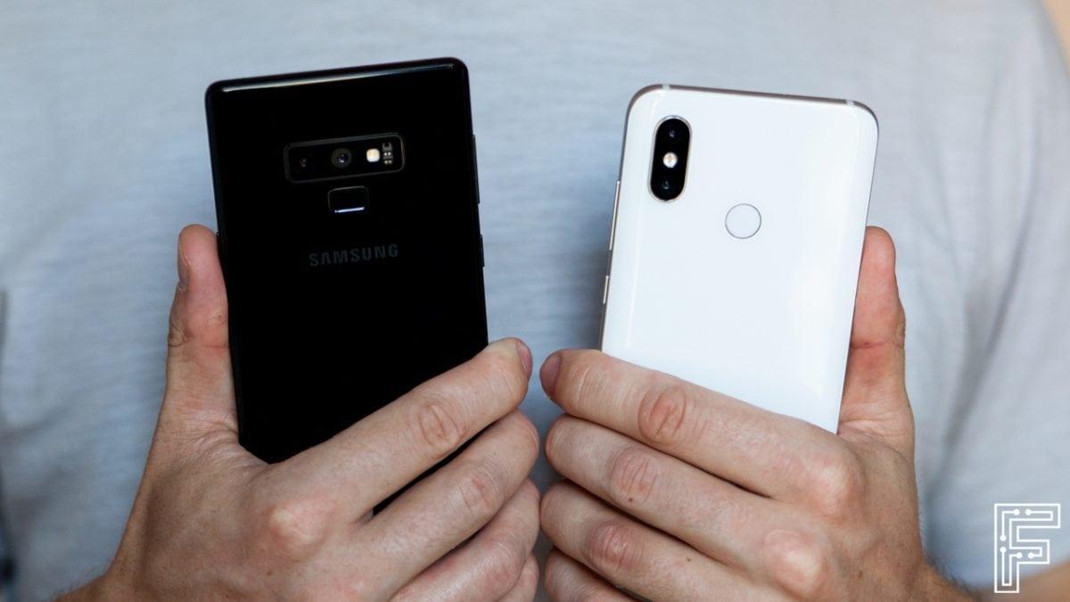 Samsung Galaxy Note 9 vs Xiaomi Mi 8