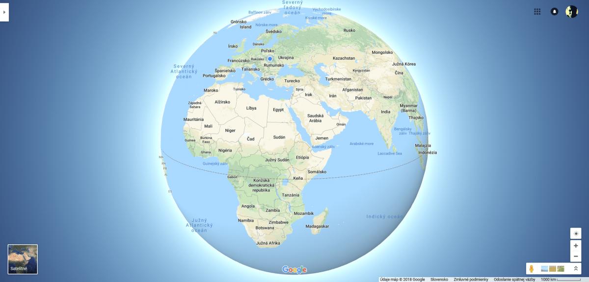 aktualizácia pre google mapy