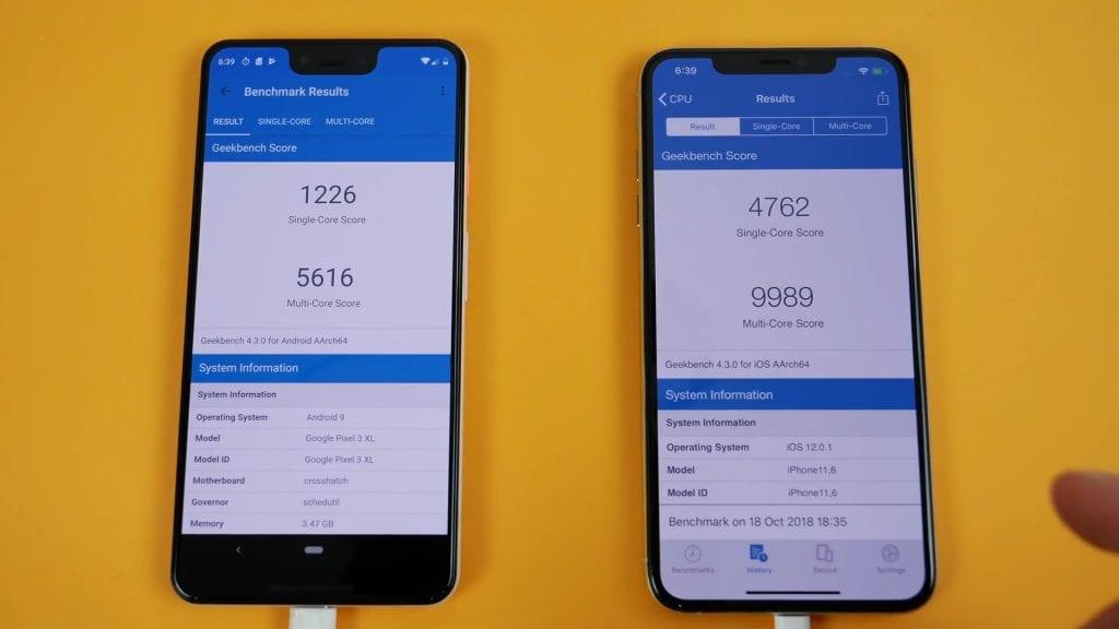 iPhone XS Max vs. Google Pixel 3 XL