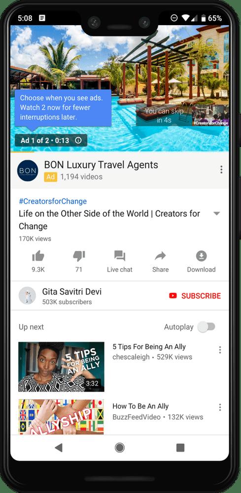 Youtube zavádza dve reklamy za sebou