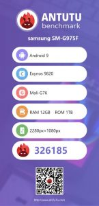 Galaxy S10 benchmark