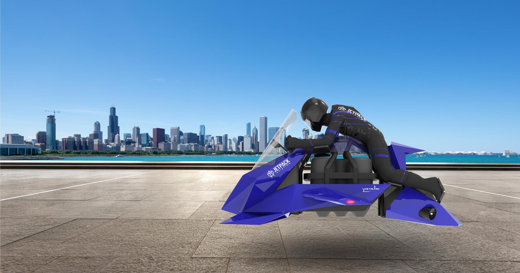 Toto je nová futuristická lietajúca motorka Speeder. Dokáže ísť cez 200 km/h a kúpiť si ju budeš môcť aj ty