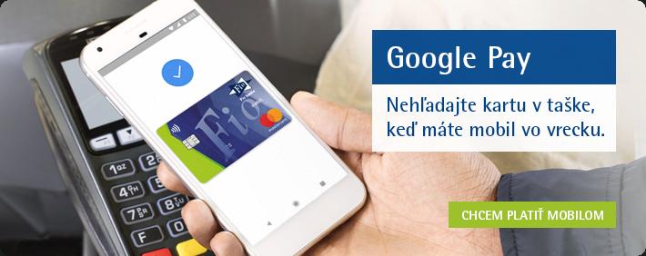 google pay už podporuje aj fio banka