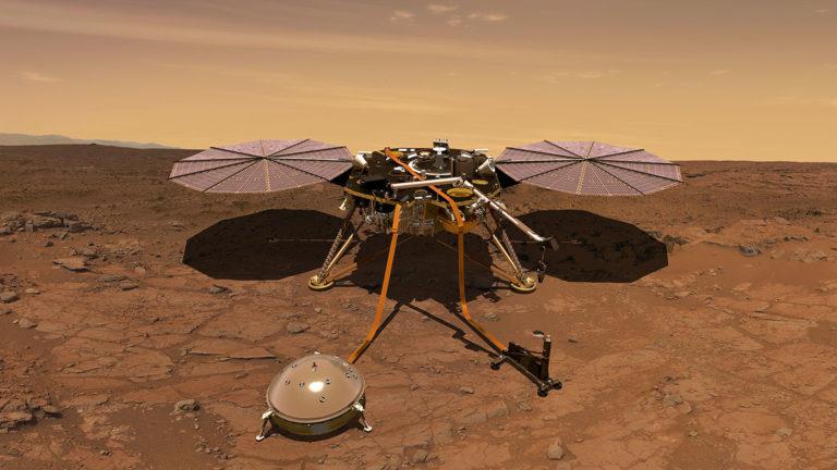 """NASA priznala porážku. """"Krtko"""" z Marsu ukončil misiu, namiesto 5 metrov prevŕtal len pár cm"""