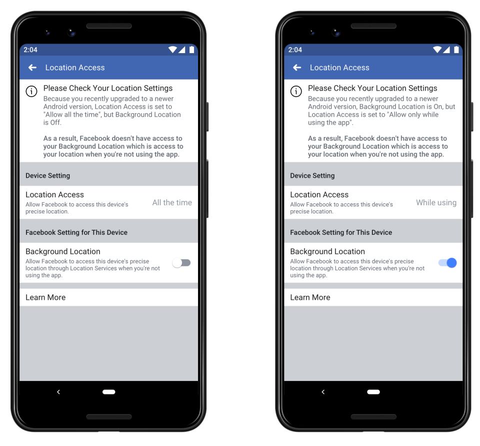 Facebook žiada o udelenie prístupu k polohe