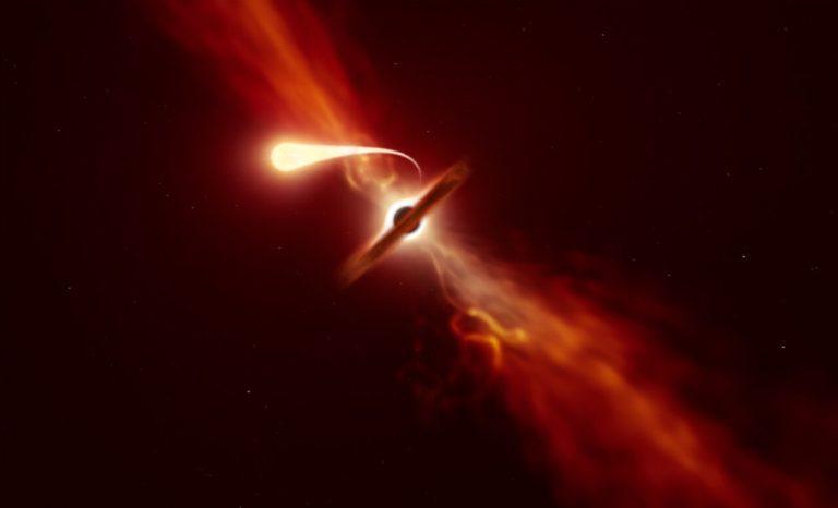 Čierna diera zhltla hviezdu a postavila vedcov na nohy. Takúto ešte nikdy nevideli
