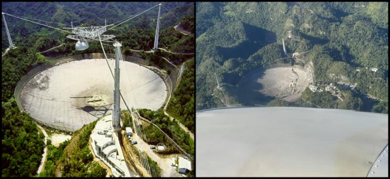 Zrútenie 900-tonového rádioteleskopu Arecibo má možného vinníka, vyšetrovanie odhalilo vážne chyby