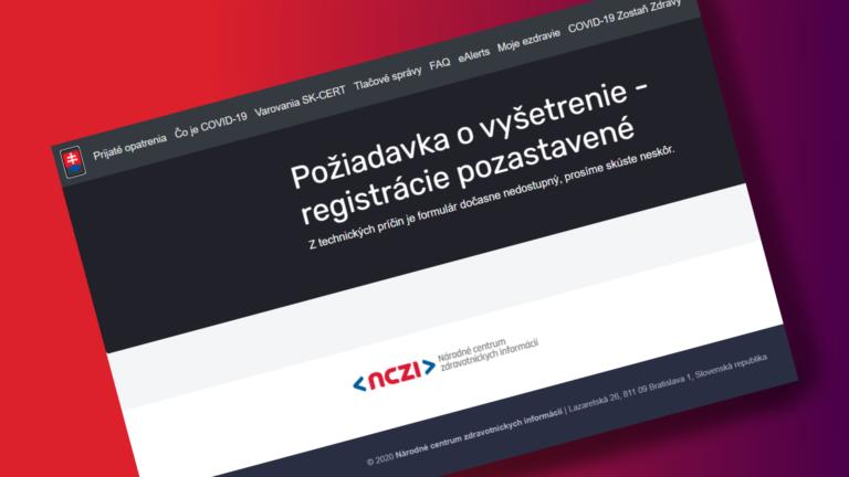 Na Slovensku sa začalo ďalšie celoplošné testovanie. Formulár pre antigénové testy je však nefunkčný