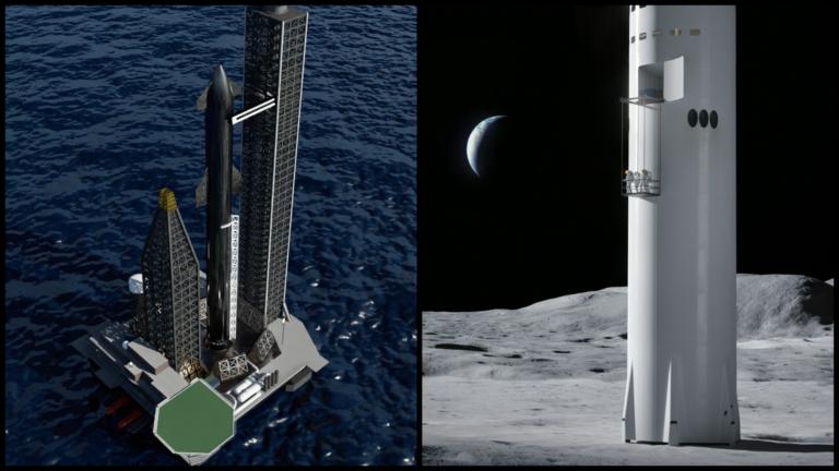 Starship chystá veľkolepé pristátie rovno na námornej plošine, príde ešte tento rok. SpaceX testuje aj výťah na vysadenie ľudí na Mesiaci