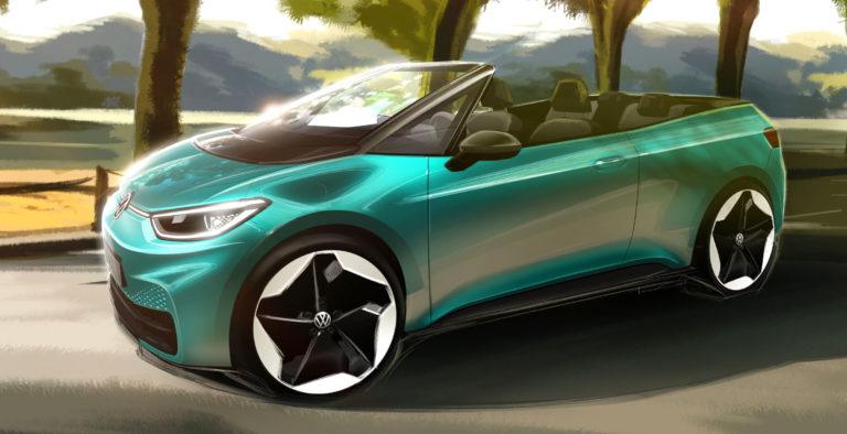Najštýlovejší elektromobil sveta? Volkswagen chce z ID.3 kabriolet, takto môže vyzerať