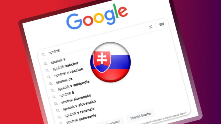 Slovensko má nového kráľa vakcín v Google. Sputnik V raketovo vystrelil o 450 %, ľudia majú záujem už aj o očkovanie